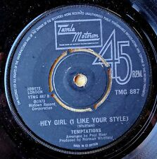 SOUL 45: TEMPTATIONS I Need You/Hey Girl (Like Tour Style) TAMLA MOTOWN 887 UK