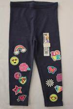 NEW Toddler Girls Leggings Size 3T Blue Stretch Pants Love Heart Rainbow Bottoms