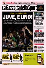 GAZZETTA DELLO SPORT 18/05/2017 JUVENTUS VS LAZIO 2-0 WINNER COPPA ITALIA JUVE