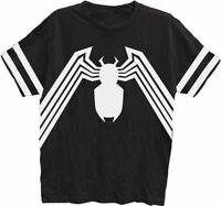 Adult Men's Marvel Comics Spider-Man Venom Striped Sleeves Black T-Shirt Tee