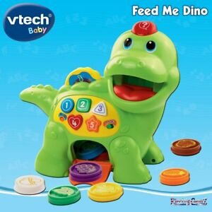 vTech Baby Feed Me Dino with Sound and Music - Teaches Food and Colours - New