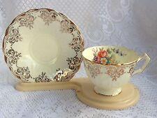 Aynsley Gold/Floral # B4996 Tea Cup &  Saucer (175)