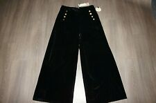 vintage 1930s style Lindy Bop velvet high waist palazzo wide leg trousers 18