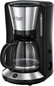 Russell Hobbs Kaffeemaschine Adventure Edelstahl, Glaskanne bis zu 10 Tassen