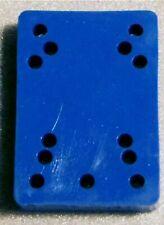 "Skateboard Riser Pads 1/2"" Blue O/S (1 pair) USA"