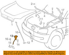 TOYOTA OEM 96-00 RAV4 Hood-Safety Catch Latch Lock 5355042010
