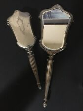 Antique Sterling Silver .925 Vanity Set Hand Mirror Hand Brush By Webster