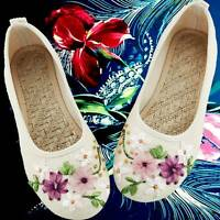 Retro Vintage Chinese Women's Shoes Mary Jane Flat Ballet Embroidered A 9