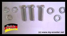 3x Schrauben Set M7 x 30     mit Federring (Sprengring) und Unterlegscheibe