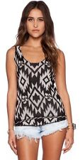 Wildfox White Label Floral Tribal Traveler Floral Tank Moon Black NEW Large