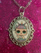 Silver Charm Necklace Pendant LOL L.O.L Surprise Doll Unicorn