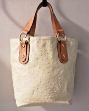 Maurizio Taiuti Purse Yellow Tote Ostrich Leather Italian Small Handbag