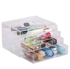 Designer Clear Acrylic Makeup Storage Box Organiser Container 32 x 24 x 30mm