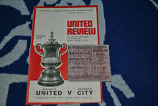 FA Cup Home Teams L-N Football Programmes with Match Ticket