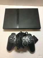Sony PlayStation 2 Ps2 Slim Console System Black For Parts/ Repair