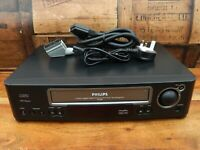 Philips VR686 VHS Video Cassette Player Recorder VCR - Tested + Working