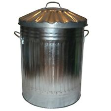 60L Liter Galvanised Metal Bin KITCHEN BEDROOM Home Garden Rubbish Waste Storage
