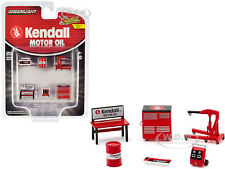 """""""KENDALL MOTOR OIL"""" SHOP TOOL ACCESSORIES 6 PC SET 1/64 BY GREENLIGHT 16060 B"""