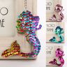 Mermaid Sequins Keychain Handbag Pendant Keyring Bag Key chain Accessories FO