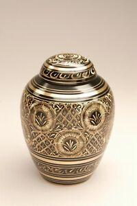 Enchanting Black Radiant Pet Brass Cremation Urns