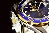 Invicta Pro Diver 18k Gold Plated Blu Sunray Dial Two-Tone Stainless Steel Watch