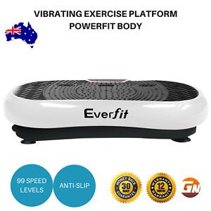 Vibrating Exercise Platform Powerfit Body Shaper Fat Burning Machine Plate 1000W