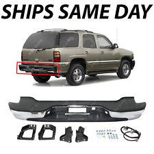 NEW Complete Chrome Rear Bumper for 2000-2006 Chevy Tahoe Suburban GMC Yukon XL