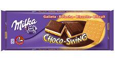 Tablette de 300 gr de chocolat Milka chocoswing biscuit, livré neuf emballé.