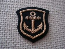 Anchor frame bullion wire embroidery badge patch
