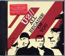 U2 RARE CD SINGLE  ALL BECAUSE OF YOU  CANADA EDITION + FAST CARS SEALED