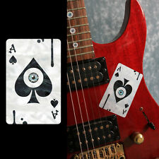 Ace of Spades & Eyeball Playing Card Inlay Sticker Decal For Guitar & Bass
