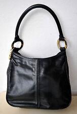 MCM Black Leather Handbag Bag Purse Rare Vintage Design Michael Cromer Munich