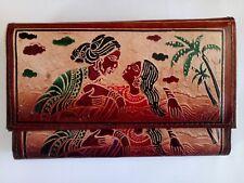 Genuine Leather India Shantiniketan Clutch Bag Women's Purse / Wallet