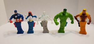 Taco Bell 2001 Marvel Heroes in Action Collectible Action Figure Toys - Hulk Cap