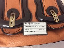 Authentic Fendi Light Brown  /Black Patent Leather B bag