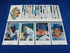 Ron Lewis 1969 World Champion Mets 25th Anniversary Autographed Post Card Set !!