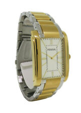 Fossil PR5413 Men's Analog Rectangular Roman Numeral Stainless Steel Watch