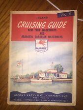 Vintage Marine Map, New York Canadian Waterways, Rideau, SOCONY-VACUUM MOBIL Oil