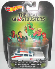 1/64 Hot Wheels Retro K Case The Real Ghostbusters Ecto-1 Cartoon Car