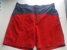 MEN'S SIZE XL SONOMA BRAND NAVY AND RED SWIMWEAR SHORTS NEW NWT #1577
