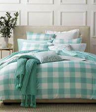 Charter Club Damask Designs Gingham Teal 3 Piece Comforter set King