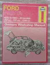 Ford Fiesta Haynes Manual 1976 to 1980