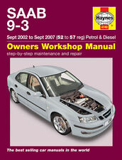 HAYNES WORKSHOP REPAIR MANUAL FOR SAAB 9-3 PETROL & DIESEL 2002 - 2007 52-57 reg