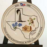 "7.5"" Signed (Bob Niles) LE 207/2500 Plate Texas Sesquicentennial Plate-Mint"