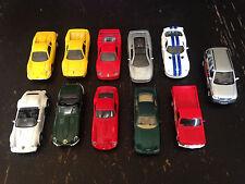 Lot Miniature Friction Car Ferrari Jaguar Dodge Porsche Mercedes Maisto Shell 1/