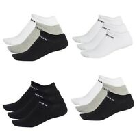 Adidas Mens Womens No Show Ankle Socks Nc Low Cut Sports Gym Training Sock Size