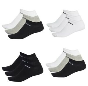 Adidas Mens Womens No Show Ankle Socks Nc Low Cut Sports Gym Training Sock Size