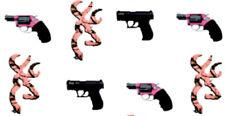 20 water slide nail decals diy  Browning, Peach single deer, Pink Black gun mix