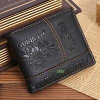 HOT Herren PU-Leder Bifold Wallet Credit / ID Karte Erhalt Halter Geldbörse