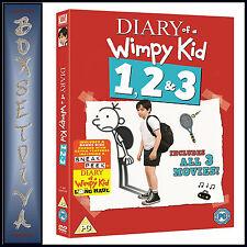 DIARY OF A WIMPY KID 1 2 & 3  MOVIES PLUS BONUS DISC *** BRAND NEW DVD BOXSET***